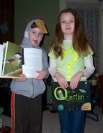These readers dressed up in costume for a school book event--What a amazing look-alikes!